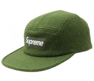 Supreme Harris Tweed Camp Cap Green