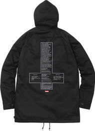 Supreme Black Sabbath Parka Black