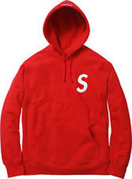 Supreme S Logo Hooded Sweatshirt Red