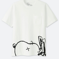 Kaws x Peanuts Snoopy Pocket White Tee
