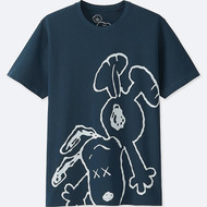 Kaws x Peanuts Blue Graphics Tee