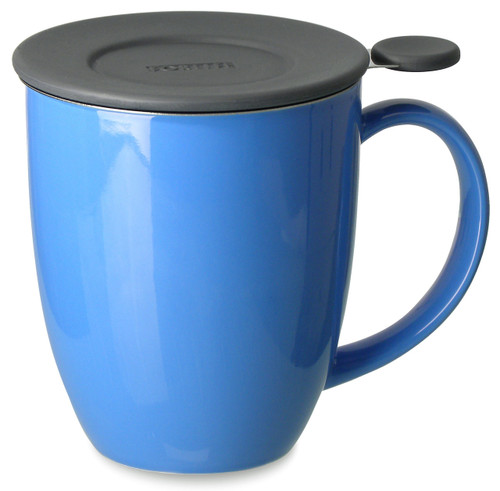 Brew in Mug with Infuser & Lid 16 oz -Blue