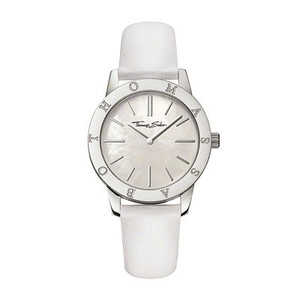 Classic meets colour - with its elegant, smooth leather strap in fashionable colours and with its shimmering mother-of-pearl dial