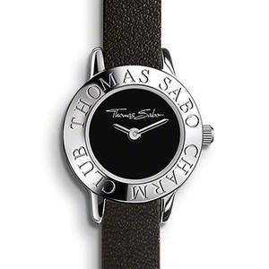 The THOMAS SABO Charm watch is 1 ATM water-proof and is hence resistant to water splashes. The Charm watch is not suitable for bathing, showering, swimming or diving. To wear charms on the watch strap the carrier X0145 is needed.
