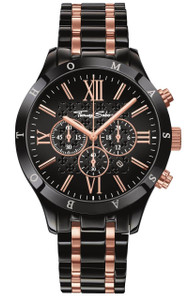 Classic design combined with fashionable rose - the look of this chronograph has a striking effect with its harmonious interaction of exquisite black and radiant rose gold-coloured highlights. The elaborately-designed dial with cross motif rounds off the elegant look perfectly. A timeless must-have for the modern gentleman.