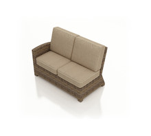 Forever Patio Cypress Wicker Sectional Left Arm Facing Loveseat by NorthCape International