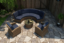 Forever Patio Cypress Collection 5 Piece Wicker Sectional Set by NorthCape International