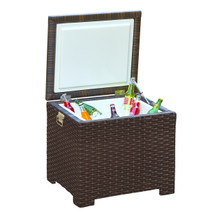 Forever Patio Barbados Wicker End Table Ice Chest from NorthCape Intl
