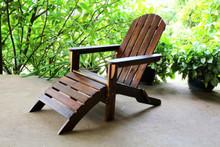 International Caravan Highland Adirondack Chair with Attached Footrest