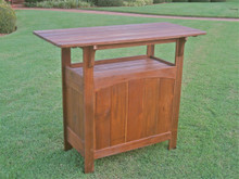 International Caravan Highland Outdoor Wooden Bar Table