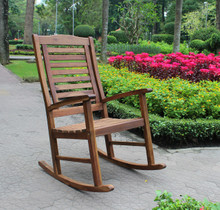 International Caravan Highland Acacia Porch Rocker With Oil Acacia Stain