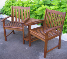 International Caravan Highland Conversation Double-Chair and Table