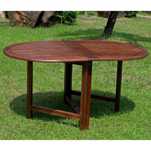 International Caravan Highland Acacia Oval Gate Leg Dining Table