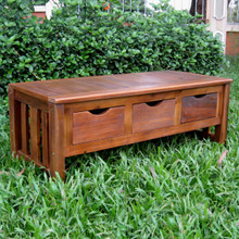 International Caravan Highland Acacia 3-drawer Storage Bench
