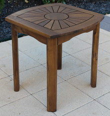 International Caravan Highland Acacia Sun Burst Side Table