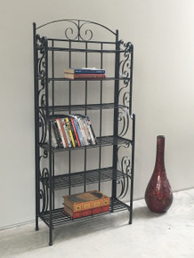 International Caravan Iron Storage 6-shelf Media Shelf