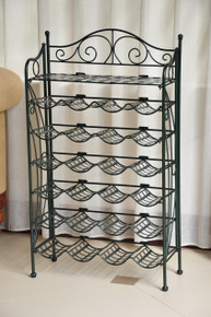 International Caravan Iron 24-bottle Wine Rack with Shelf