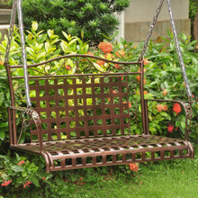International Caravan Mandalay Wrought Iron Patio Swing