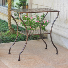 International Caravan Mandalay Iron Rectangular Patio Table