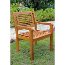 International Caravan Royal Tahiti Bar Harbor Yellow Balau Hardwood Contemporary Dining Arm Chairs (Set of 2)