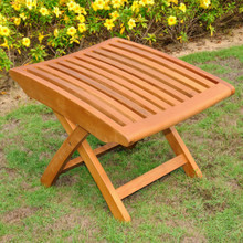 International Caravan Royal Tahiti Yellow Balau Wood Outdoor Folding Footrest