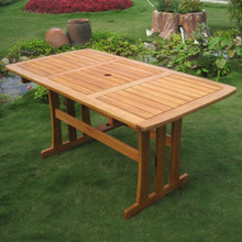 International Caravan Royal Tahiti Yellow Balau Wood Rectangular Dining Table
