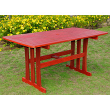 "International Caravan Royal Tahiti Acacia Rectangular 59"" Dining Table"