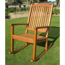 International Caravan Royal Tahiti Yellow Balau Hardwood Large Rocking Chair