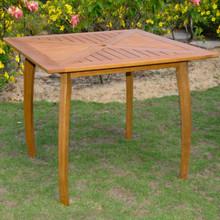 International Caravan Royal Tahiti Yellow Balau Hardwood Outdoor 36-inch Square Dining Table