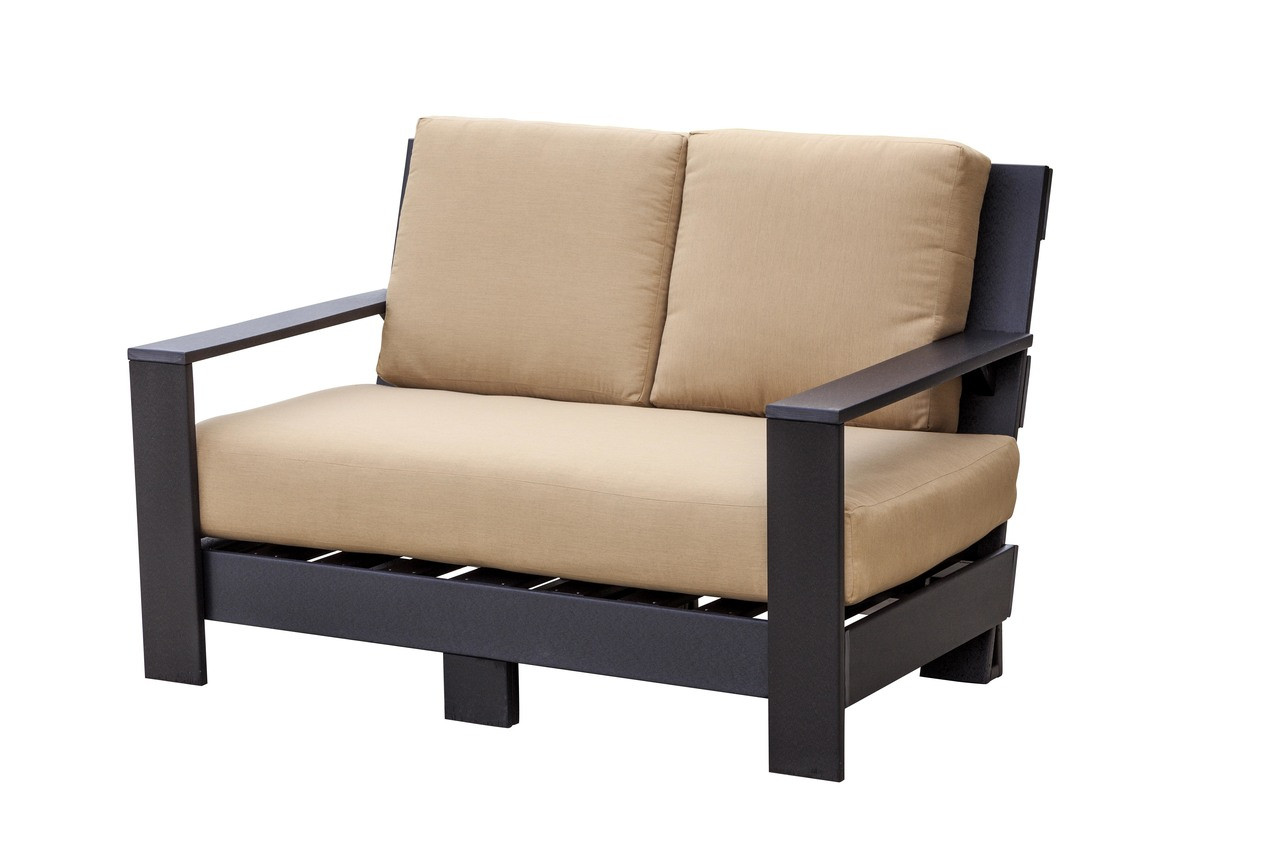 Little Cottage Contemporary Deep Seat Love Seat Modern