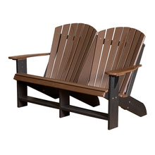 Little Cottage Heritage Poly-Wood  Double Adirondack Chair