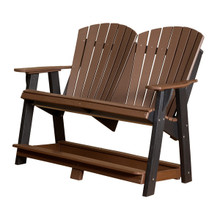 Little Cottage Heritage Poly Wood Double High Back Adirondack Chair