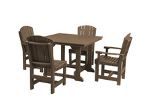 "Little Cottage Heritage Poly-Wood 5 Piece 44"" Square  Dining Set"