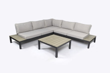Tortuga Outdoor Lakeview 4 Piece Outdoor Patio Sectional Set