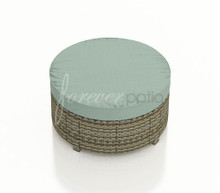Forever Patio Hampton Radius Wicker Large Round Ottoman by NorthCape International