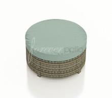 Forever Patio Hampton Radius Wicker Large Round Ottoman by NorthCape International