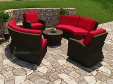 Forever Patio Barbados Wicker Curved Sectional Set - 5 Piece by NorthCape International