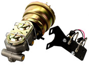 """7"""" Dual Booster Master Cylinder Proportioning Block Combo"""