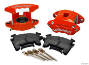 Wilwood GM Metric Red D154 Front Brake Caliper Kit 140-12097-R