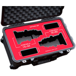 Jason Cases Protective Case for Angenieux Optimo DP 16-42mm & 30-80mm Lens (Red Overlay)