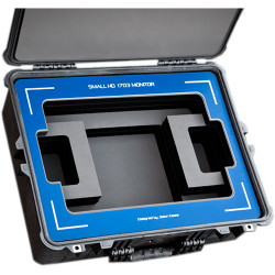 """Jason Cases Protective Case for SmallHD 1703 17"""" HDR Monitor (Blue Overlay)"""