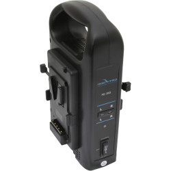 IndiPRO Tools V-Mount Dual Battery Charger with XLR Output