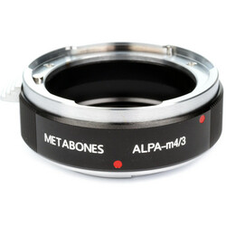 Metabones Alpa Lens to Micro Four Thirds Lens Mount Adapter (Black)