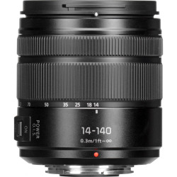 Panasonic LUMIX G VARIO 14-140mm f/3.5-5.6 ASPH. POWER O.I.S. Lens (Black)