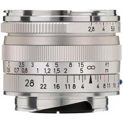 Zeiss Wide Angle 28mm f/2.8 Biogon T* ZM Manual Focus Lens for Zeiss Ikon and Leica M Mount Rangefinder Cameras - Silver