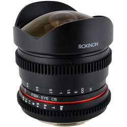 Rokinon 8mm T/3.8 Fisheye Cine Lens with Removable Hood for MFT