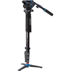 Benro A48FDS6 Series 4 Aluminum Monopod with 3-Leg Locking Base and S6 Video Head