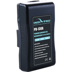 IndiPRO Tools Compact 130Wh Gold-Mount Li-Ion Battery