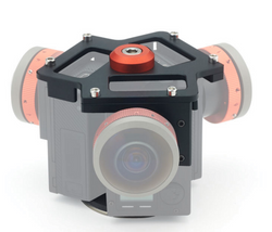 Entaniya Fisheye Rig for Three Ribcage-Modified GoPro HERO4 Cameras