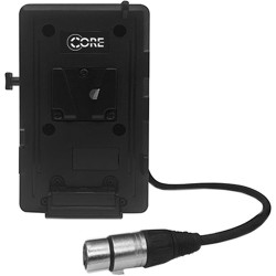 Core SWX VoltBridge V-Mount Plate with 4-Pin XLR and 2 Powertaps for LED Panels and iOS/Android